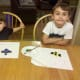 My boys finished with their ladybug creations.