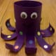 Our finished toilet paper roll octopus!
