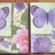 Napkin-Covered Ceramic Tile Coasters