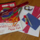 Supplies to make a paper flag.