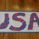 Our finished USA collage craft.