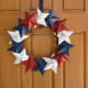 Wreath made from cereal box stars!