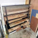 Organising the wood into the new temporary storage units
