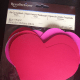 Die-cut cardstock hearts | Acid and Lignin free | 6 in x 5.5 in | $2.99 at Michael's