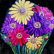 Hand-Painted Gerbera Daisies Rock