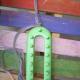 Secure slipknot onto peg on end of loom.