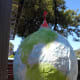 Let dry overnight (I hung mine outside) Finished for now! You can paper over the hole at the top of the balloon with some more paper mache and tissue =- then add your hook and hang with fishing line or twine from your ceiling-or display on a stand