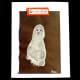 A white footprint makes a cute ghost.