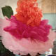Multi-Coloured Tissue Paper Flowers