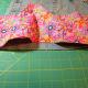 Start pinning the fabric.