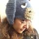 Crochet Eeyore Hat side view.