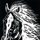 """""""His Majesty"""" linocut by Peggy Woods"""