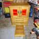 Plinth drawer open