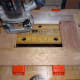 Routing the decorative moulding for the glass panel