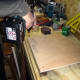 Fixing 6mm plywood over the battens to create the housing for the Meranti planks