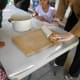 Rolling the salt clay dough