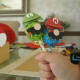 Super Mario paper cut-outs for lollies.