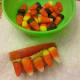 Arrange candy corn to look like teeth.