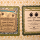 two versions of the ceremony invitation