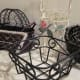 Choose your basket by shape, color, and texture, from wire, iron, or wicker styles.