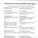 This is a photo of page 2 of the Trivia/BINGO quiz questions. You can get the .pdf to print by clicking on the orange link at the beginning of this article.
