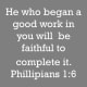 "Add something to this verse such as, ""Your birth was the beginning of His good work in you and He is continuing that good work as you continue having birthdays."""
