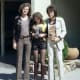 1970s fashions, anonymous man with Loretta Bezzini & Lars Jacob in clothing by Gul & Blå (public domain).