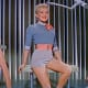 Marilyn Monroe, Betty Grable and Lauren Bacall in the trailer for the film How to Marry a Millionaire, 1953.