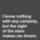 """""""I know nothing with any certainty, but the sight of the stars makes me dream."""" —Vincent van Gogh"""