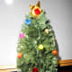 3. Mini Christmas tree decorated with beads