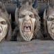 3 modern Krampus masks