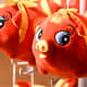 Decorations and toys featuring the incoming animal of the Chinese Zodiac are sold everywhere.