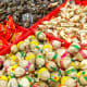 All sorts of exotic candies and snacks are on sale throughout the lunar festive season.