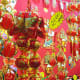 """Many Chinese New Year decorations have """"8"""" in their prices because the Hokkien pronunciation for 8 rhymes with Huat, which means windfall."""