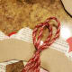 Secure your ribbon with hot glue to create a hook.