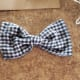 Fabric bow tie.