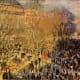 In 1872, Claude Monet painted this depiction of a Parisian Mardi Gras street celebration.