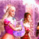 Liana and Alexa play instruments to deflect Lydia's evil spells.