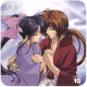 Kenshin and Kaoru holding hands