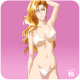 Rangiku on two piece swim suit.