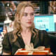 Kate Winslet (Iris) in the office Christmas party scene.