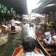 Shopping on the floating market