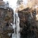 A frozen Kegon falls, in the middle of winter.