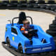 Our six year old son was in heaven careening around corners in the kiddie go-carts.