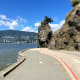 Siwash Rock and the Stanley Park Seawall