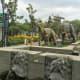 Dinosaurs in the Italian Garden