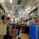 On subway train