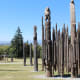 Playground of the Gods is a sculpture that is made of a natural material  (wood) and is by one definition an eco-sculpture.