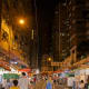 Down-the-street view of the night market. You can see that there are also clothing and apparel roadside stalls here.