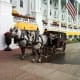 Horse and Buggy in front of the Grand Hotel on Mackinac Island, Michigan